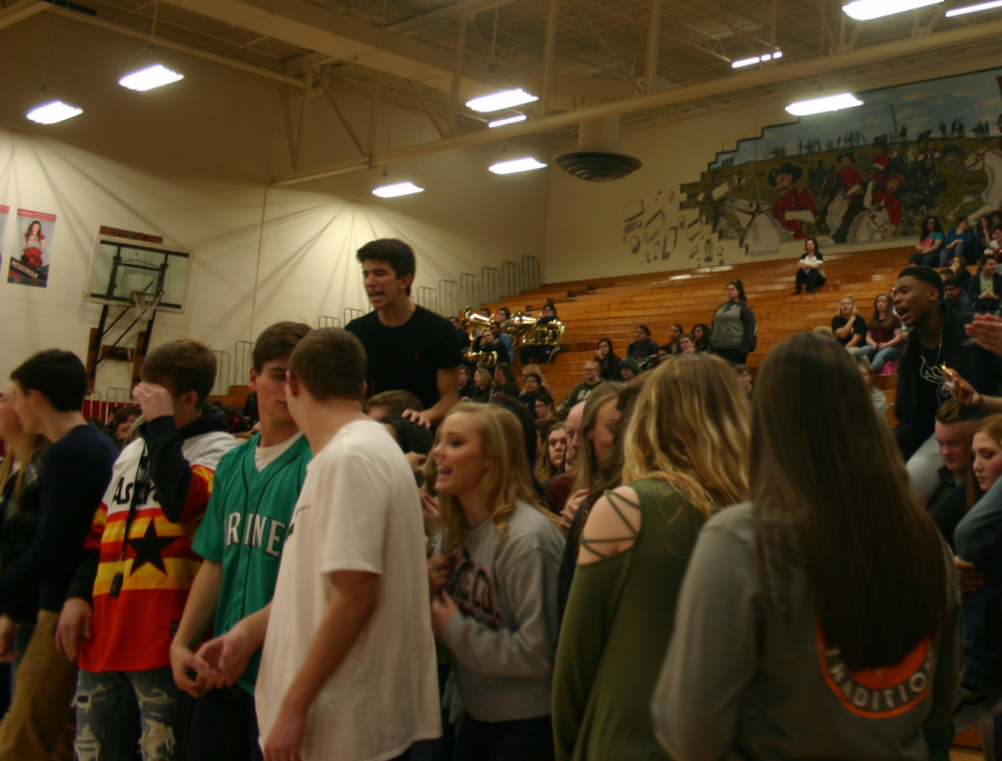 First Basketball Pep Rally Brings Excitement