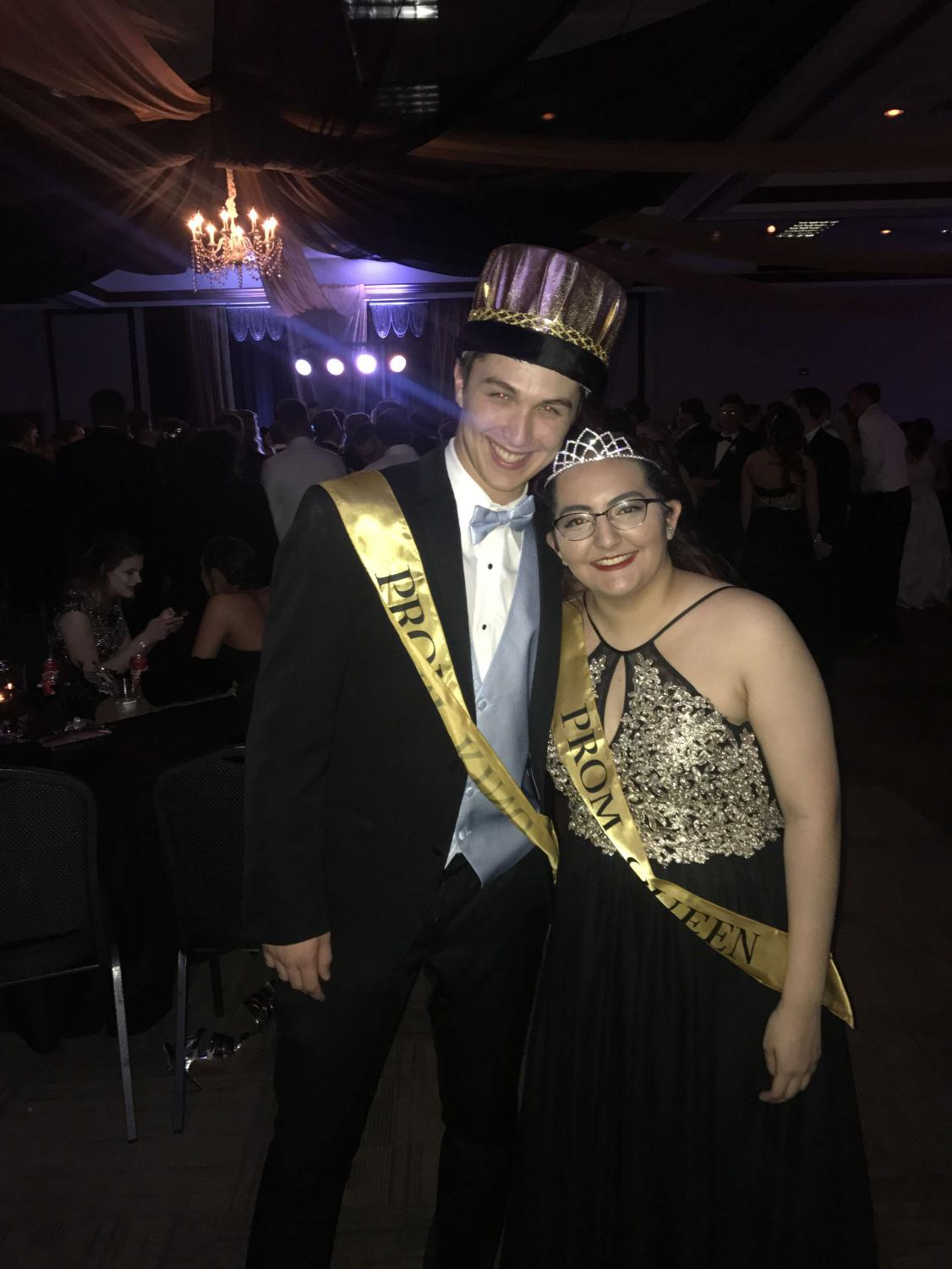 Prom King Joseph Melton and Prom Queen Katherine Rios