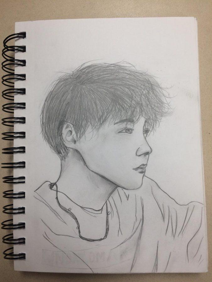 J-hope+pencil+drawing