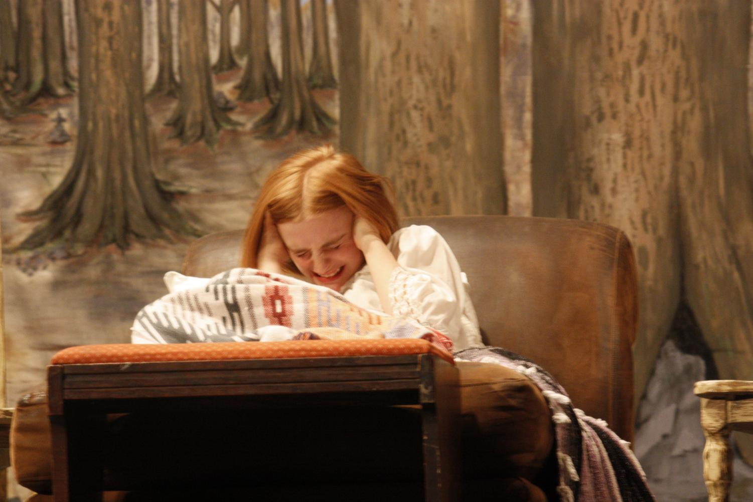 Betty Parris (Sarah Thompson) in distress at the beginning of Act 1.