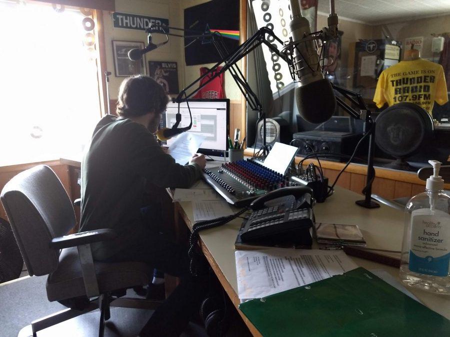 Yanely Luna job shadowed at Thunder Radio.