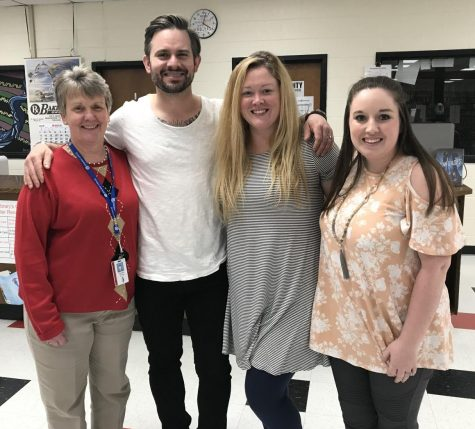 From left to right, Mrs. Winton, Jeff Zentner, Mrs. Monroe, and Mrs. Duke