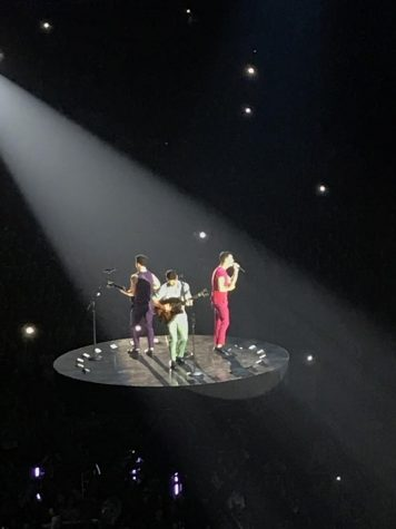 The Jonas Brothers perform to thousands of screaming fans in Bridgestone Arena.