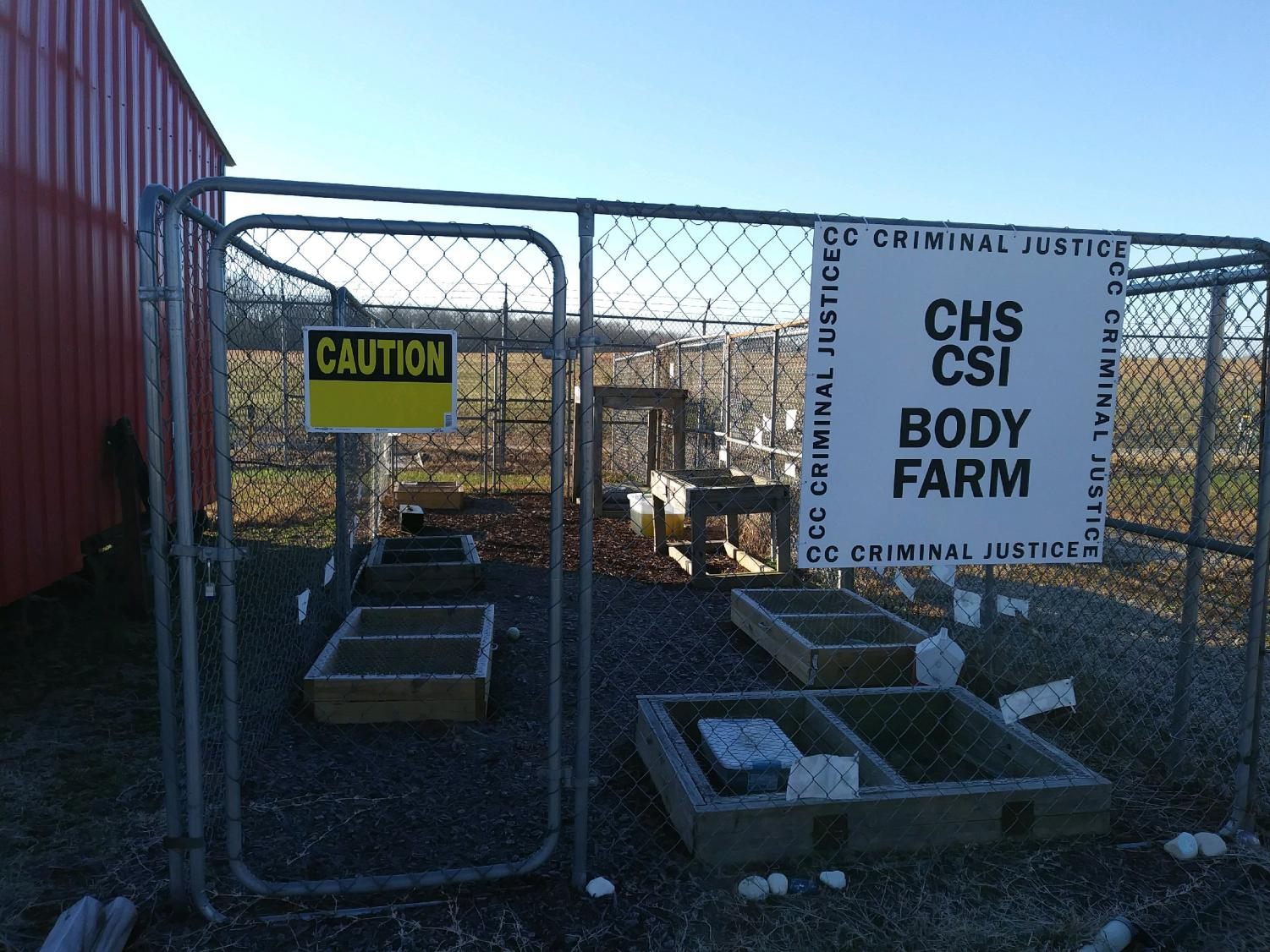 The CHS CSI Body Farm offers students the opportunity to prepare for future careers in law enforcement.