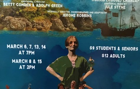 The theater department advertise Peter Pan to CCCHS to prompt interest for the upcoming musical.