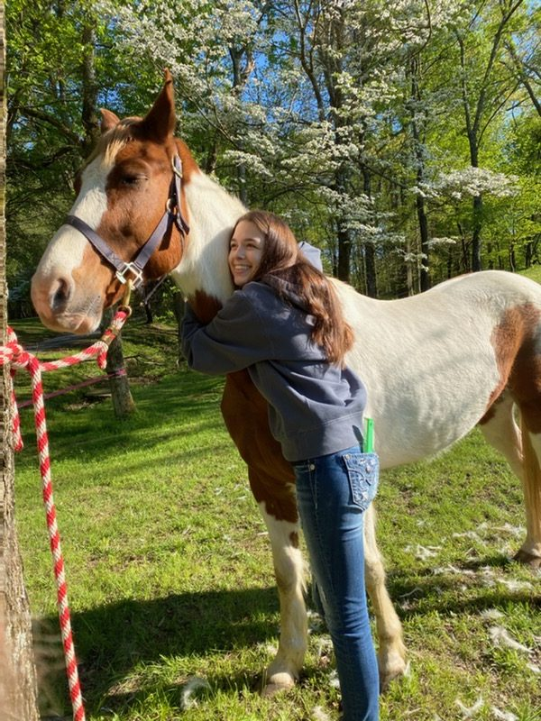 Student Hallie Wimberley spent quarantine taking care of her new horse.