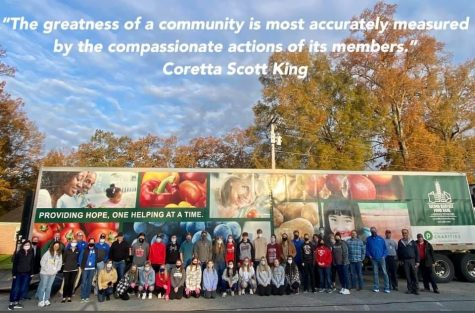 Student government, school faculty, civil service workers, and more joined together to provide food for the community.