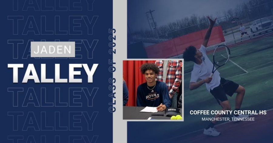 Jaden+Talley+practicing+his+swing+so+he+will+be+ready+for+Johnson+University.
