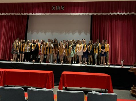 The top 10% of CCHS seniors were honored for their four years of hard work