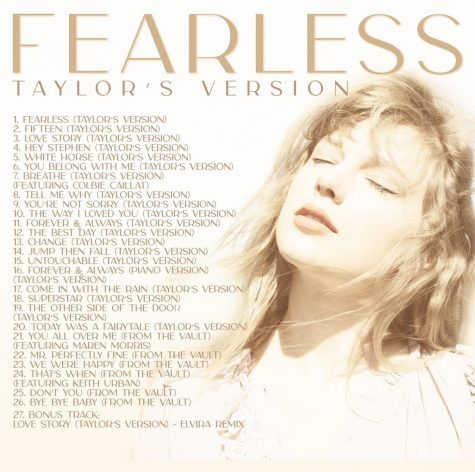 The Fearless (Taylor's Version) back cover and official tracklist.