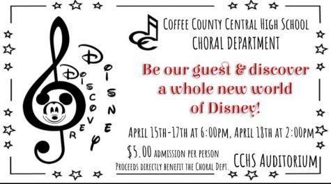 The flyer above lists all important details for the CCCHS Show Choir production.