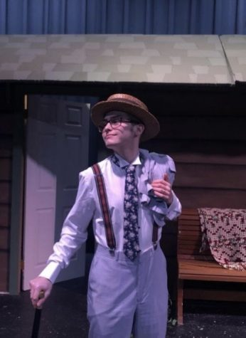 """Outstanding Senior, Dale Hoffman, poses for a picture as his character Petruchio from """"Taming of the Shrew."""""""