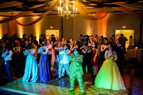 Senior, Jullian Nguyen, captured the intensity on the dance floor at the 2021 school prom.
