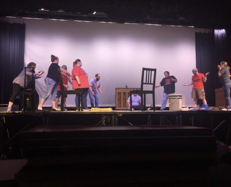 The teachers involved in the CCCHS faculty musical put all of their energy into their performances.