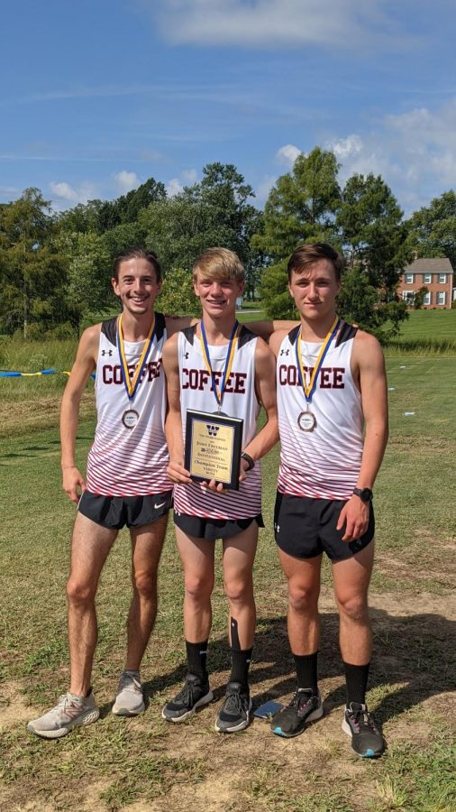 The coffee county cross country team's op 3 finishers.