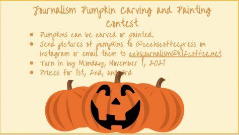 Coffee Press hosts their annual pumpkin carving contest